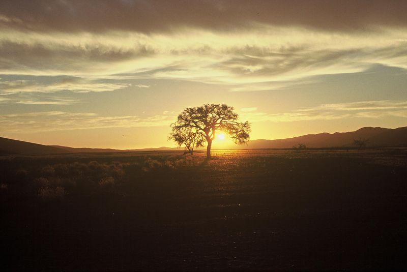 Coucher de soleil Désert du Namib